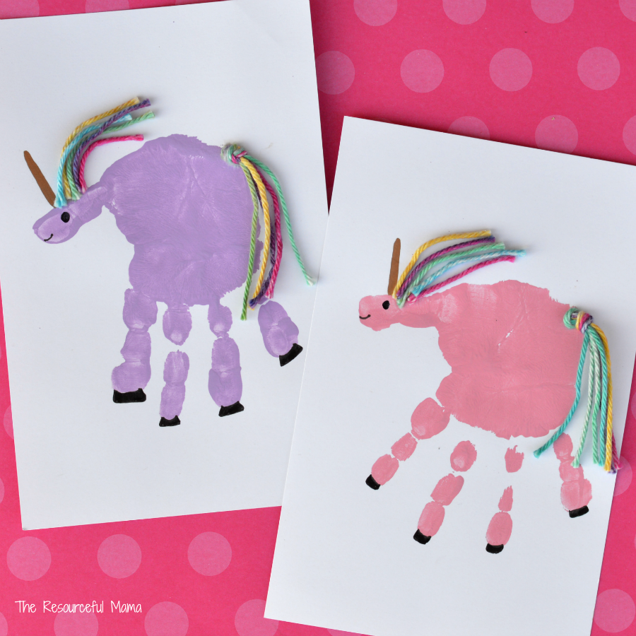 Craft: Handprint Unicorn Craft